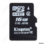Флеш-карта 16 GB Micro SD Kingston